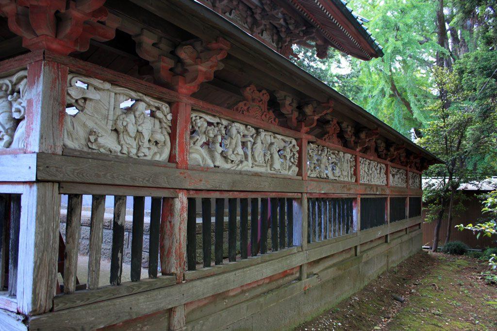玉垣の彫刻