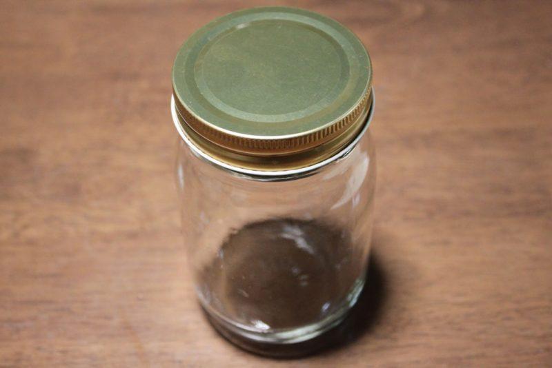 セリアで買ったガラス瓶