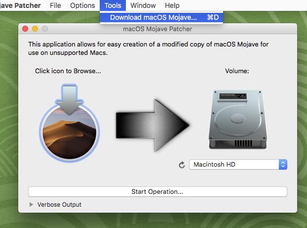 Mojaveのインストーラーファイルをダウンロード